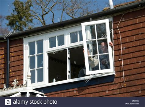 replacement windows for old houses installing a rated energy efficient replacement double glazed windows stock photo royalty free