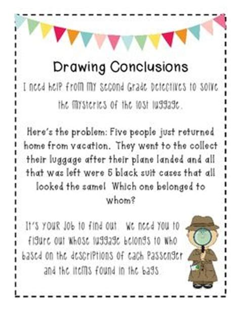 O Drawing Conclusions by Drawing Conclusions Drawings And Activities On