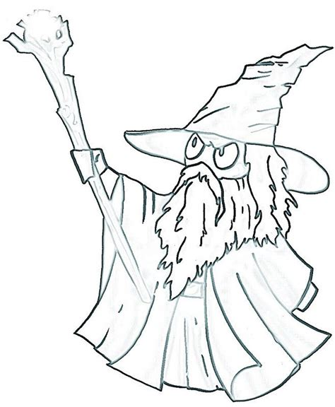 gandalf the hobbit coloring pages coloring pages pinterest