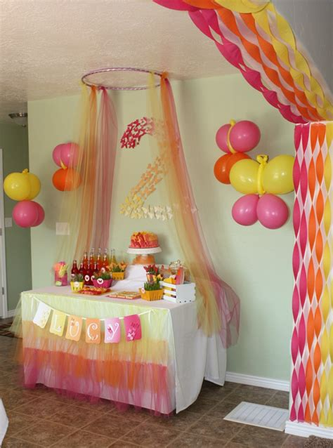 ceiling decorations decorate for parties pinterest butterfly themed party archway streamers decoration for