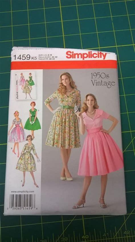 simplicity 1459 sewing pattern 1950s original repro