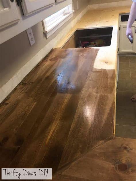 choosing countertops laminate diy thrifty divas diy wide plank butcher block countertops home sweet home wide