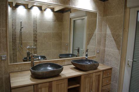 salle de bain en travertin  avec salle de bain travertin douche italienne  avec douche