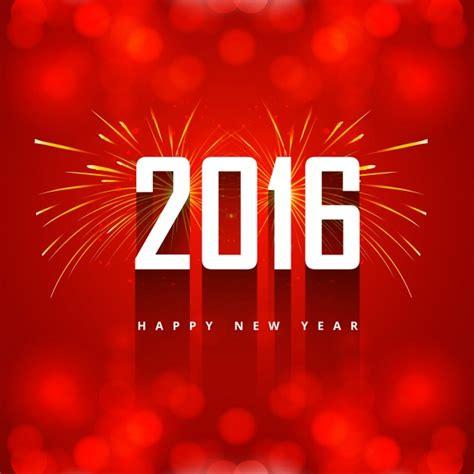 date du new year 2016 花火と挨拶新年2016 ベクター画像 無料ダウンロード