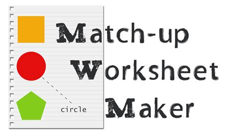 Matching Worksheet Generator by Matching Worksheet Maker Fioradesignstudio
