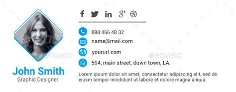 html email signature template 10 email signature templates html files included by doto