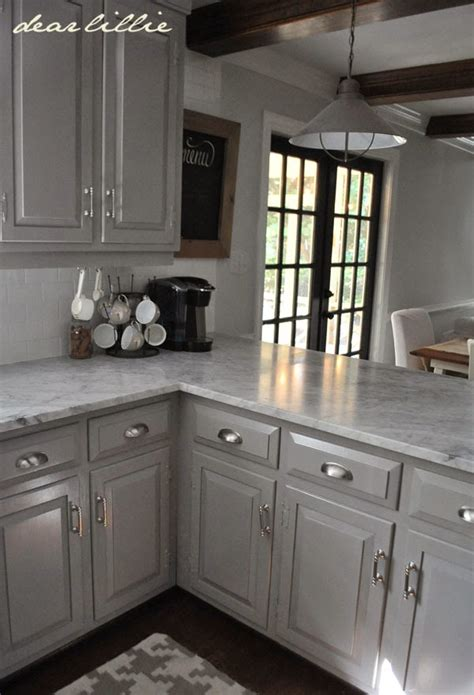 kitchen cabinets grey color dear lillie darker gray cabinets and our marble review