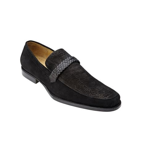 belvedere shoes belvedere pisa sueded ostrich suede loafers black