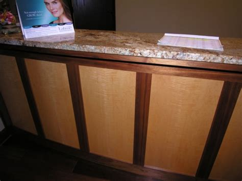 custom made reception desk crafted custom reception desk by timber arts