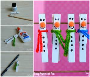 clothespin crafts clothespin snowman craft for to make easy peasy and