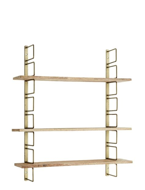 adjustable brass wood wall shelf from rockett st george