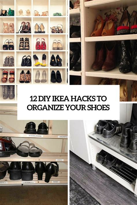ikea hack shoe storage 12 awesome diy ikea hacks for shoes organization shelterness