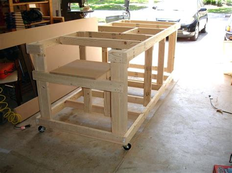 build a table saw bench diy table saw stand plans diy do it your self