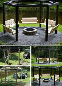 Pergola With Fire Pit by Outdoor Fire Pit And Pergola Idea Outdoor Ideas