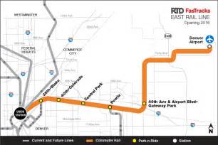 colorado light rail map take a construction tour of rtd s rail line to dia kunc