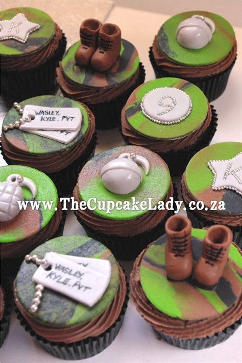 themed cupcake decorations an army themed cake and cupcake order