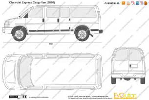 Chevrolet Cargo Dimensions The Blueprints Vector Drawing Chevrolet Express