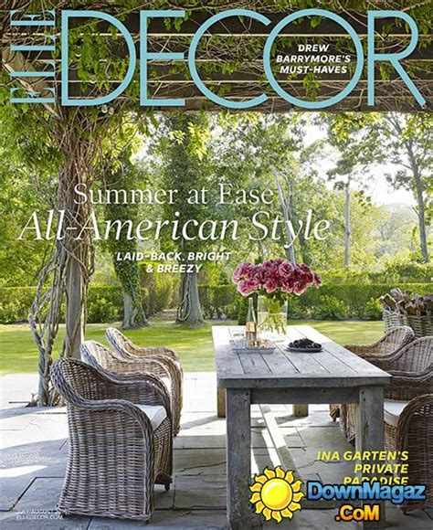 home decor magazines usa elle decor usa july august 2016 187 download pdf magazines
