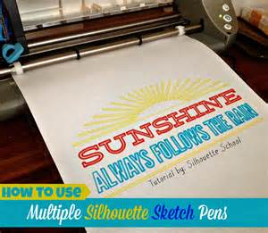 Cricut Craft Room Tutorial - how to use multiple sketch pens with silhouette silhouette