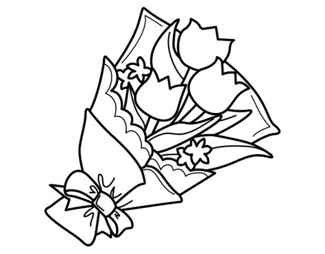 coloring pages of bunch of flowers flower bunch coloring page