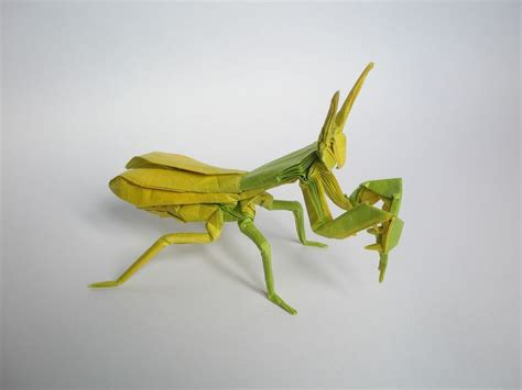 praying mantis origami praying mantis by kamiya satoshi folded by artur biernacki