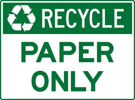 printable paper recycling sign recycling and environment signs