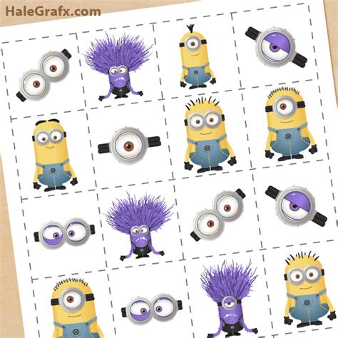 minions free printable activities and free printable despicable me 2 minions memory