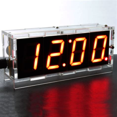 do it yourself digital led clock kit w protective ledwatchstop