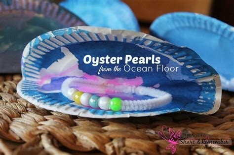 Oyster Paper Crafts - commotion gt gt oyster pearls preschool craft crafts