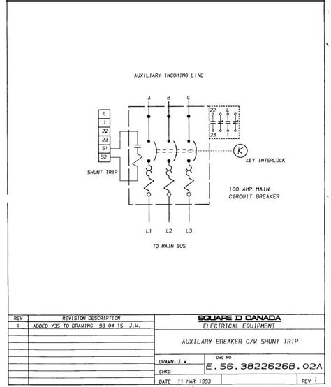 shunt trip breaker wiring diagram shunt get free image