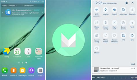 android version 6 0 1 android 6 0 1 marshmallow hits the galaxy s6 and s6 edge