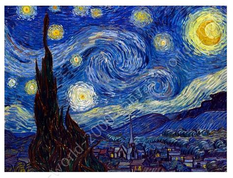 Canvas Gift Starry Night Vincent Van Gogh Prints Paints Click Starry Vincent