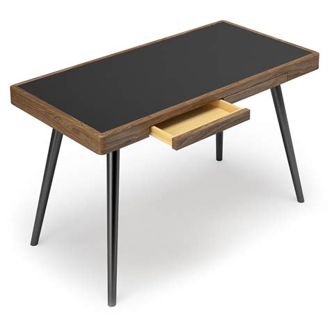 modern black desk with drawers modern desks ogden black desk eurway furniture