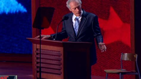 Clint Eastwood Talking To Chair by Eastwood The Empty Chair And The Speech Everyone S