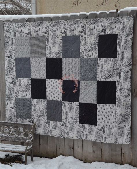 Black And White Quilt Kits by Vintage Toile Black White Classic Quilt Kit Stitches