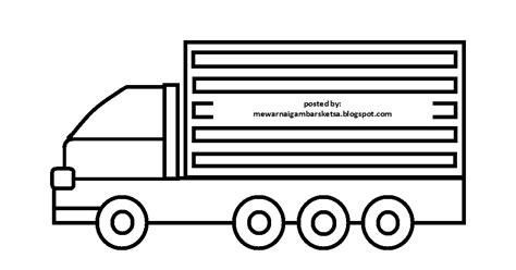 mewarnai gambar mewarnai gambar sketsa transportasi mobil truk 3