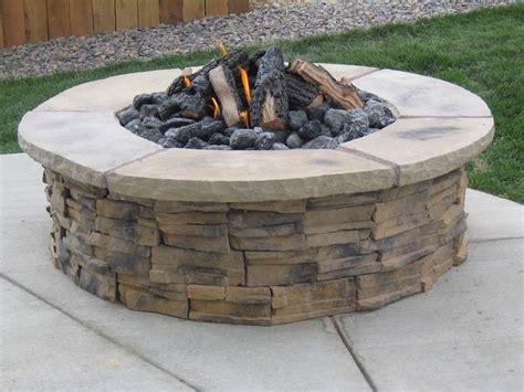 block firepit pit concrete blocks pit design ideas