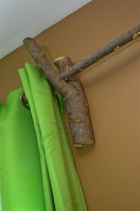 tree curtain rod how to make beautiful curtain rods out of tree branches