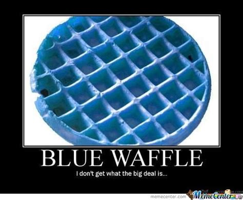 Blue Meme - blue waffle by reabedop meme center