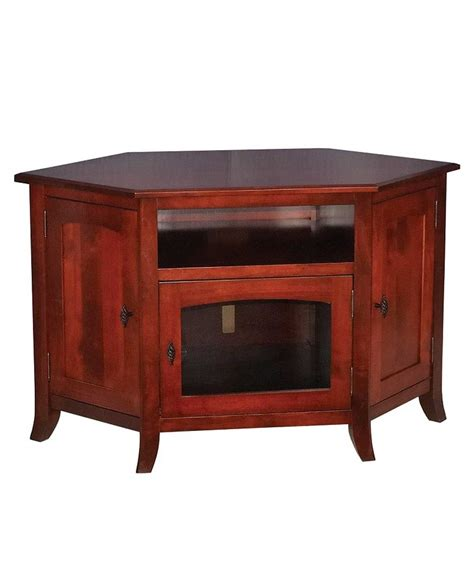 mission style corner tv cabinet young mission style 35 corner tv stand amish direct