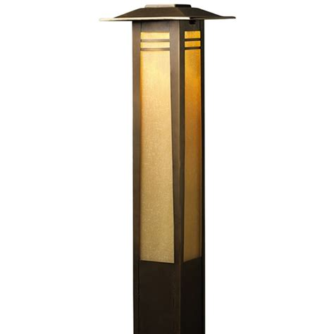 best low voltage path lights kichler low voltage bollard path light 15392oz