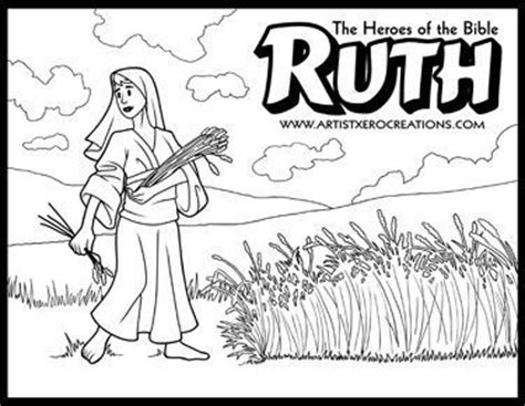The Heroes Of The Bible Coloring Pages Samuel Ruth 2 Ruth Coloring Pages