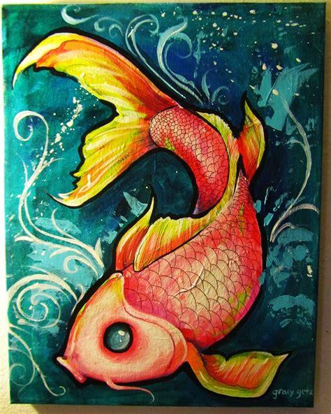 acrylic painting koi fish koi fish by gracyg89 on deviantart