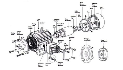three phase ac induction motor construction ac motor construction ac motor kit picture