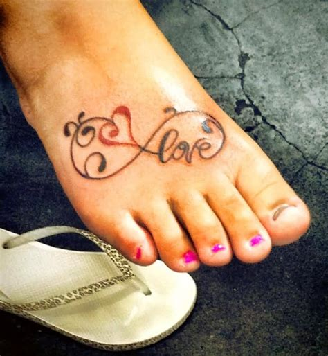 heart tattoo on foot 10 infinity tattoos on foot