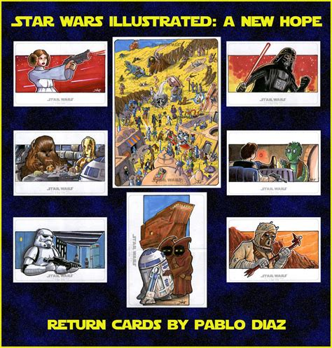 Returning A Gift Card - star wars illustrated a new hope return cards by reznorix on deviantart