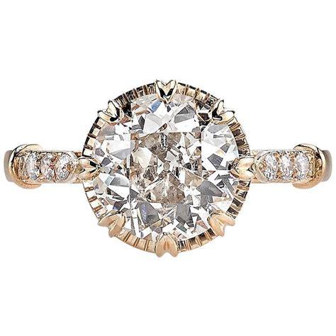 beautiful brown gold engagement ring at 1stdibs