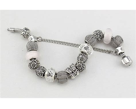 12 for a pandora inspired mesh charm bracelet buytopia