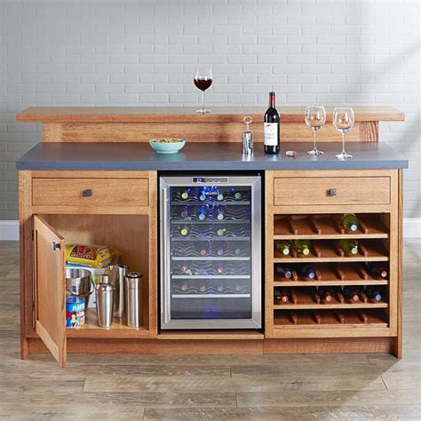 party central home bar woodworking plan  wood magazine