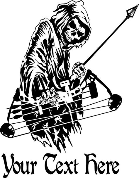 hunting truck decals details about custom name grim reaper bow hunting deer car